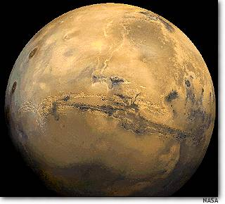 NASA photo of Mars shows Valles Marineris