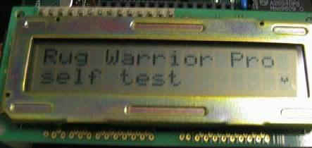 Rug Warrior LCD Screen